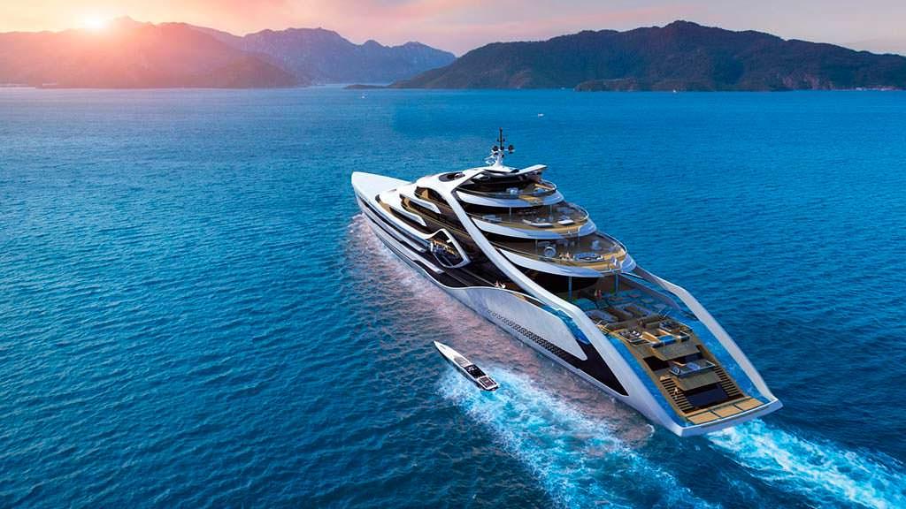 Acionna от Andy Waugh Yacht Design - яхта длиной 175 метров