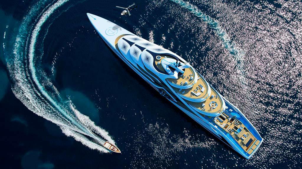 Acionna - мегаяхта от Andy Waugh Yacht Design