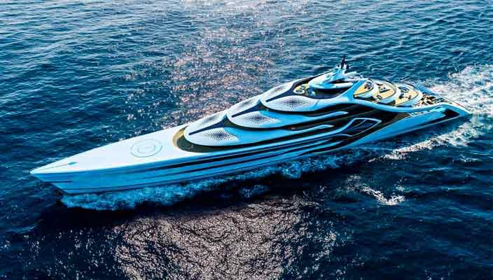 175-метровый концепт яхты Acionna от Andy Waugh Yacht Design