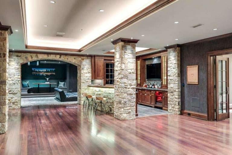 Каменный дизайн домашнего бара