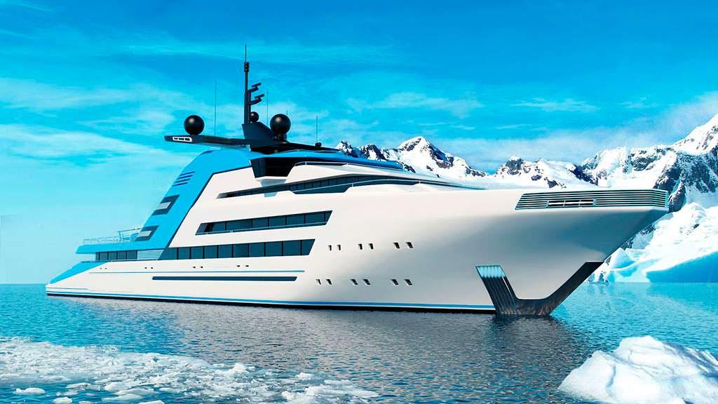 Исследовательское судно Aurora Borealis. Длина 122 метра