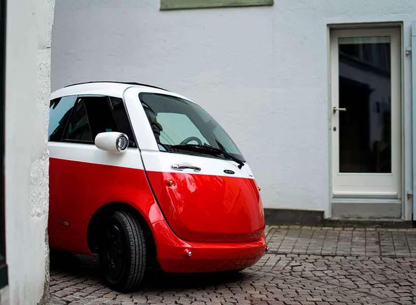 Двухместный Мини электромобиль Microlino