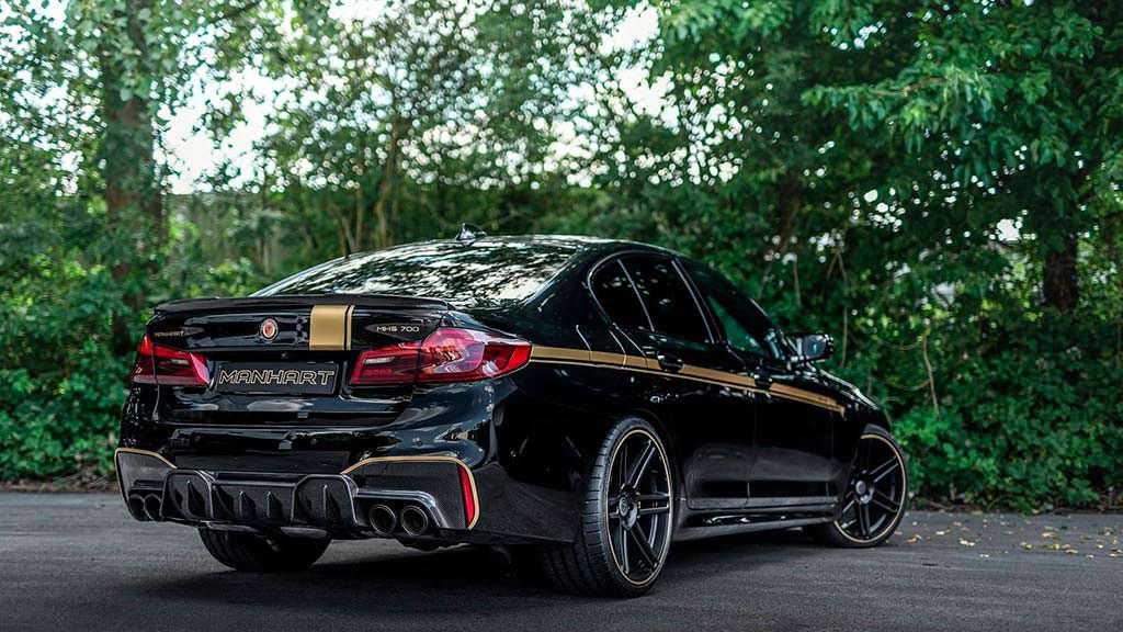 BMW M5 на 21-дюймовых колесах от Manhart