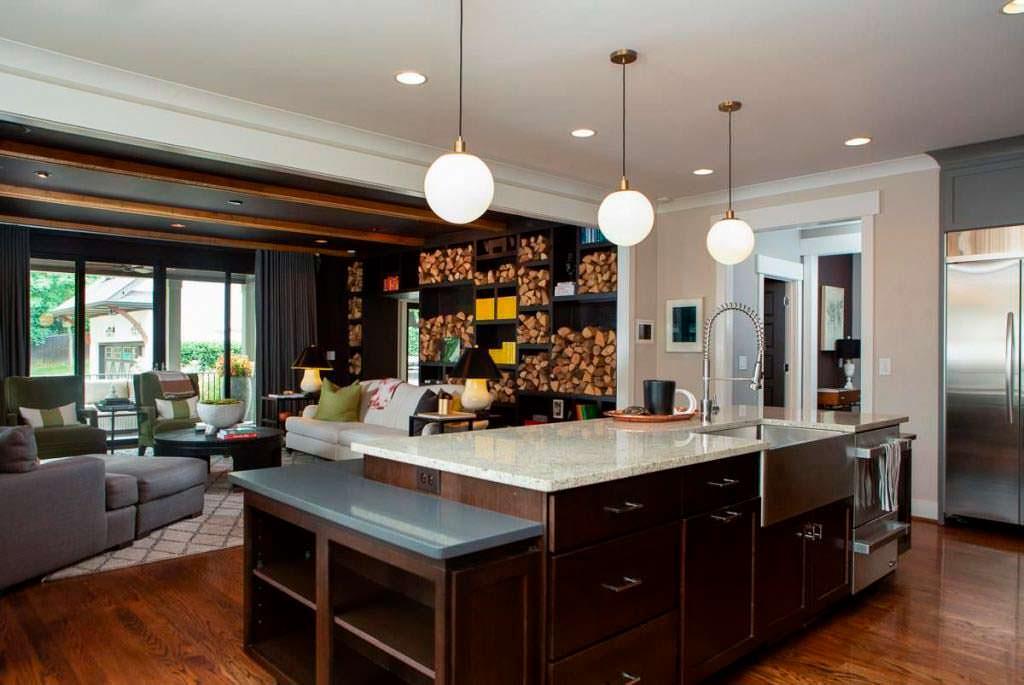 Дизайн кухни-гостиной в доме Владимира Кличко