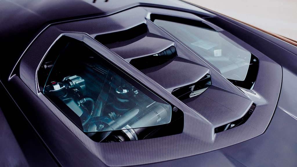 Крышка двигателя Lamborghini Centenario