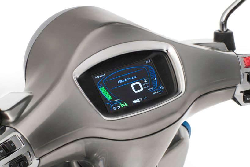Электро-скутер Piaggio Vespa Elettrica. Запас хода 100 или 200 км