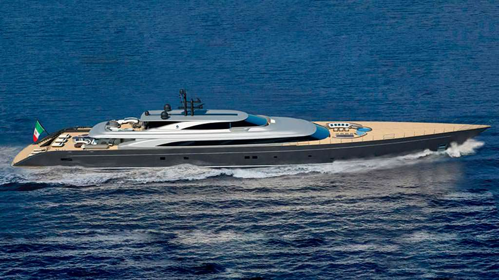 Суперъяхта Argonaut длиной 92-метра от Perini Navi