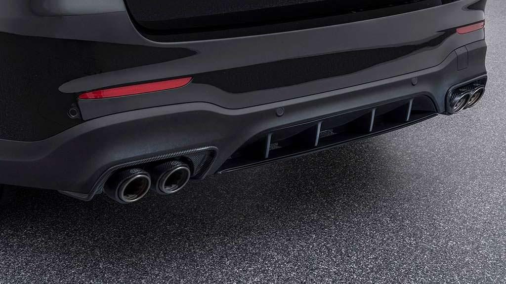 Выхлопная система Mercedes-AMG GLC 63 S из нержавеющей стали от Brabus