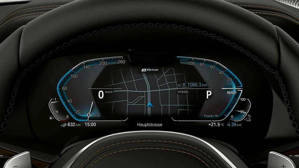 Цифровой кокпит BMW X5 xDrive45e