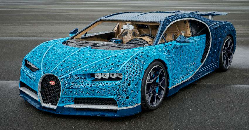Полноразмерный Bugatti Chiron от LEGO