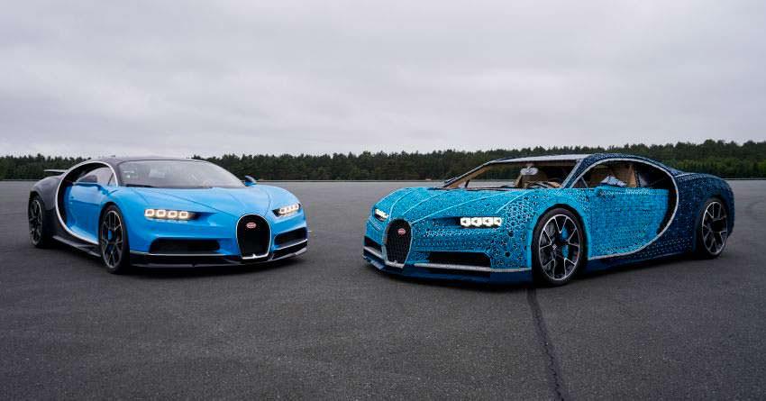 Настоящий Bugatti Chiron и полноразмерный конструктор LEGO