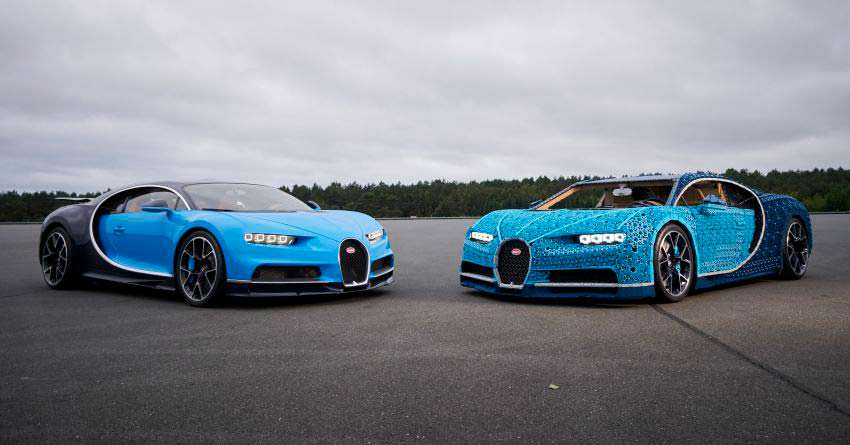 Настоящий Bugatti Chiron и конструктор LEGO