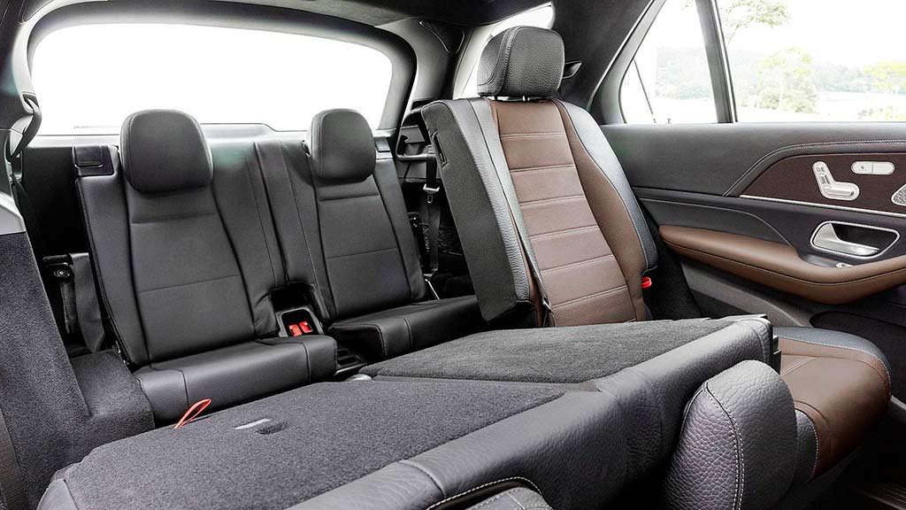 Сложенные сиденья Mercedes-Benz GLE W1XX