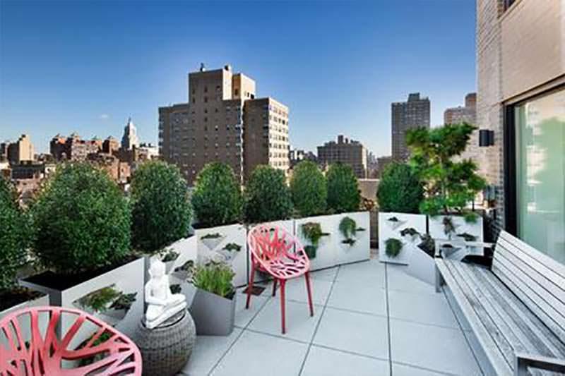 Пентхаус с террасой и видом на Манхэттен