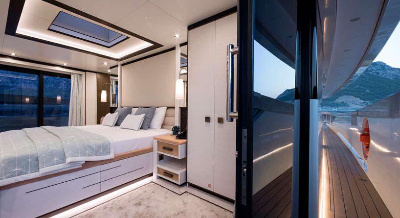 Дизайн каюты яхты Virgen Del Mar VI