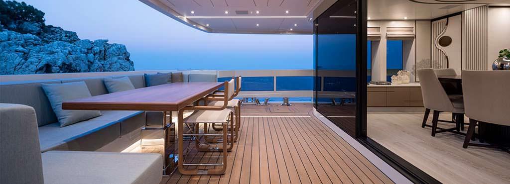 Палуба 30-метровой яхты Virgen Del Mar VI