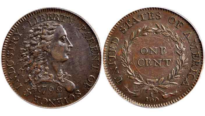 1 цент 1792 года оценили в миллион долларов