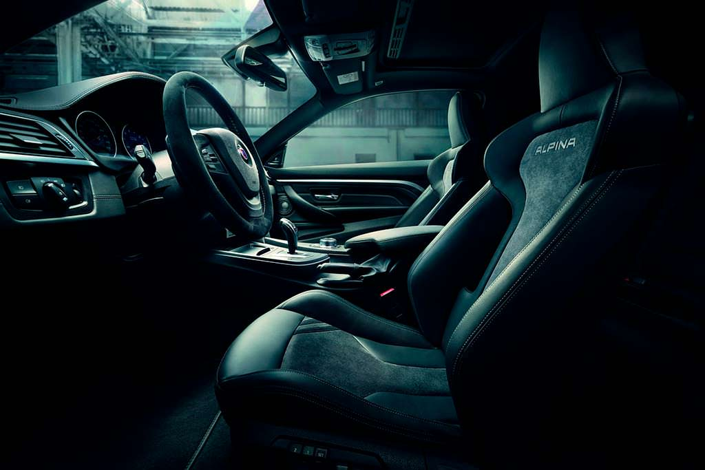 Салон BMW Alpina B4 S Bi-Turbo Edition 99 в коже и алькантаре