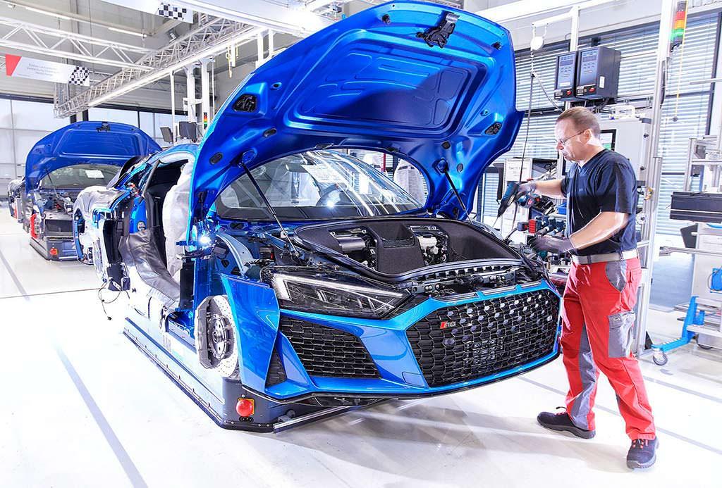 Производство Audi R8 2019 модельного года