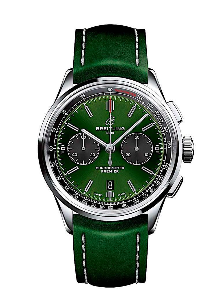 Швейцарские часы Breitling Premier B01 Chronograph 42 Bentley British Racing Green