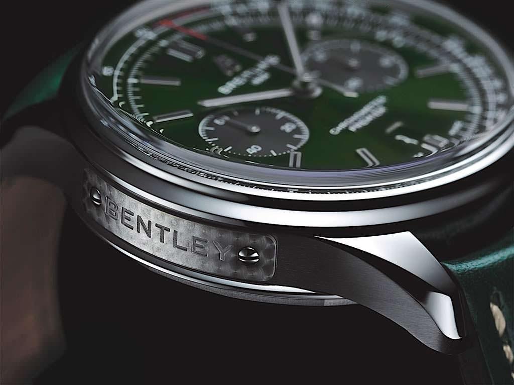 Швейцарские часы Breitling с гравированной пластиной Bentley