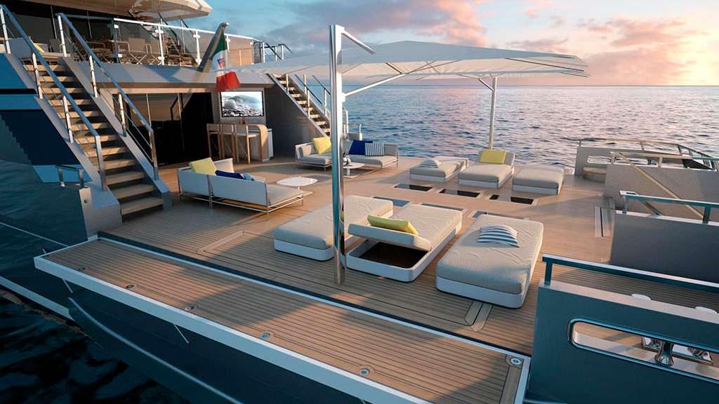 Корма исследовательской яхты Flexplorer от CdM