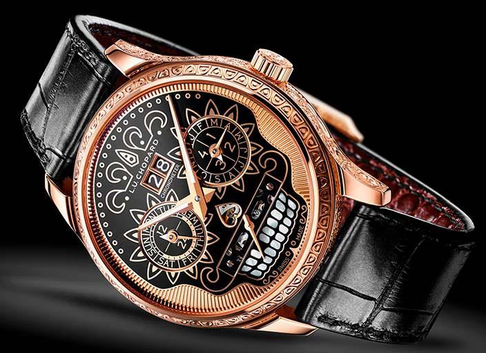 Золотые часы ручной работы в честь Дня мертвых от Chopard