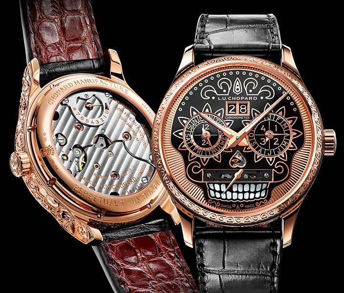 Швейцарские золотые часы в честь Дня мертвых от Chopard