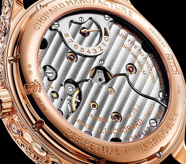 Сапфировая задняя крышка часов Chopard