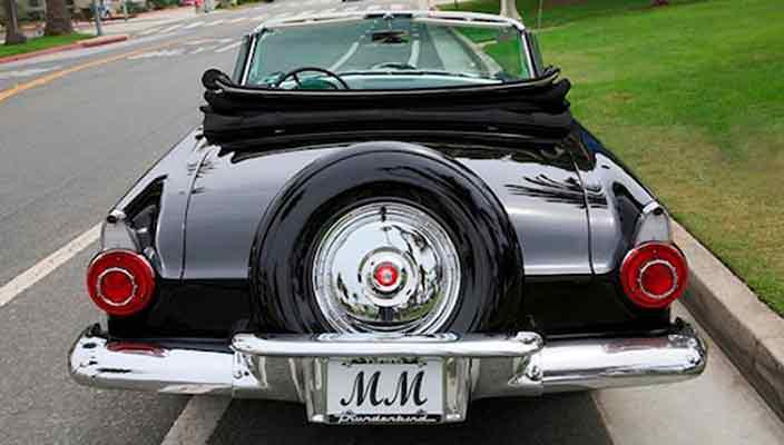 Ford Thunderbird Мэрилин Монро впервые уйдет с молотка | фото