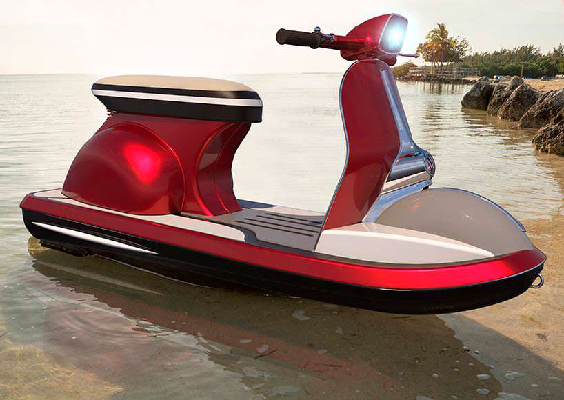 Гидроцикл Jet Vespa. Дизайн классического мотороллера Vespa 50