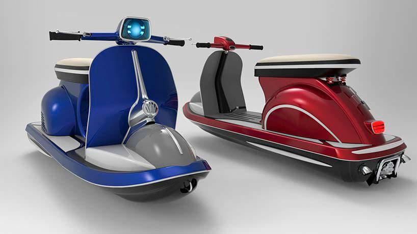 Гидроцикл Jet Vespa. Электро- и бензин-версии