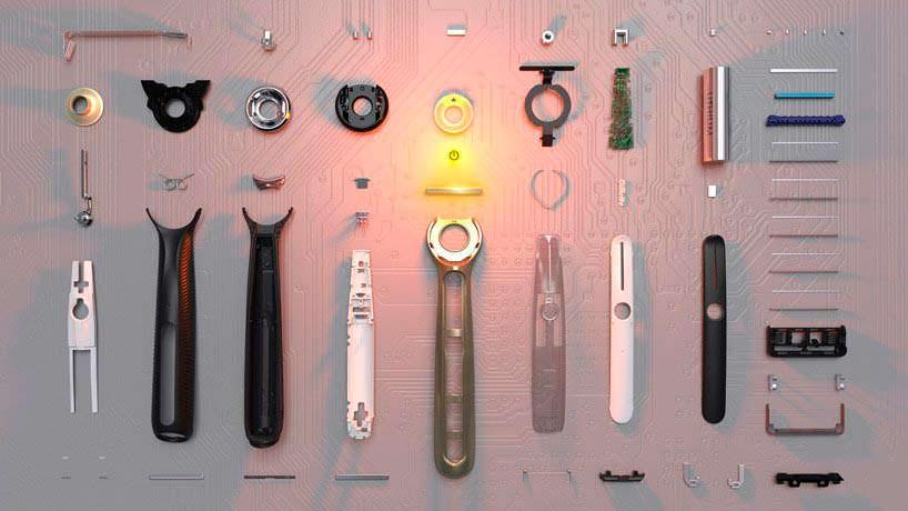 Конструкция бритвы с подогревом Gillette Heated Razor