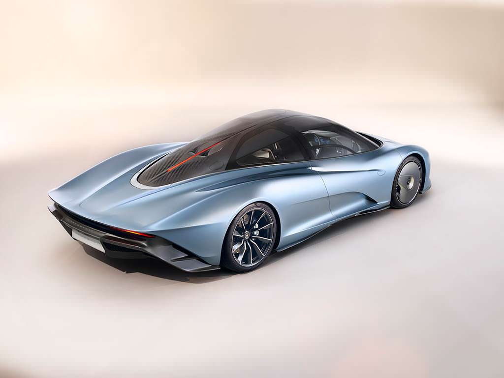 McLaren Speedtail. Мощность бензин-гибрида 1 036 л.с.