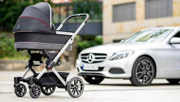 Mercedes и Hartan сделали детскую коляску в стиле AMG | инфо