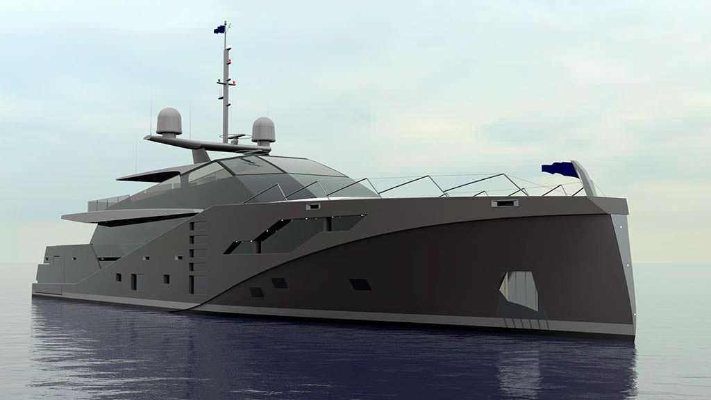 Уникальная яхта Stealth длиной 46 метров от Peter Bolke Design
