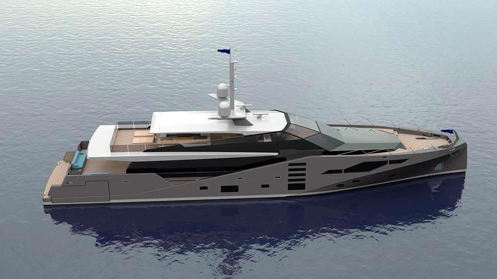 Яхта Stealth длиной 46 метров от Peter Bolke Design