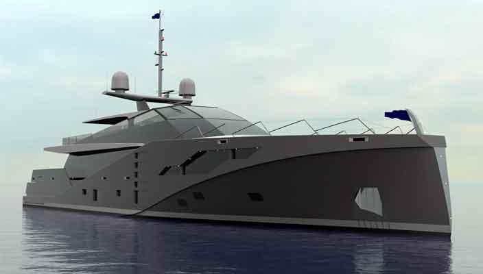 Peter Bolke Design создана яхта-невидимка для радара Stealth