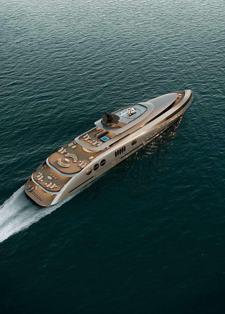 Пятипалубная яхта Epoch. Длина 80 метров