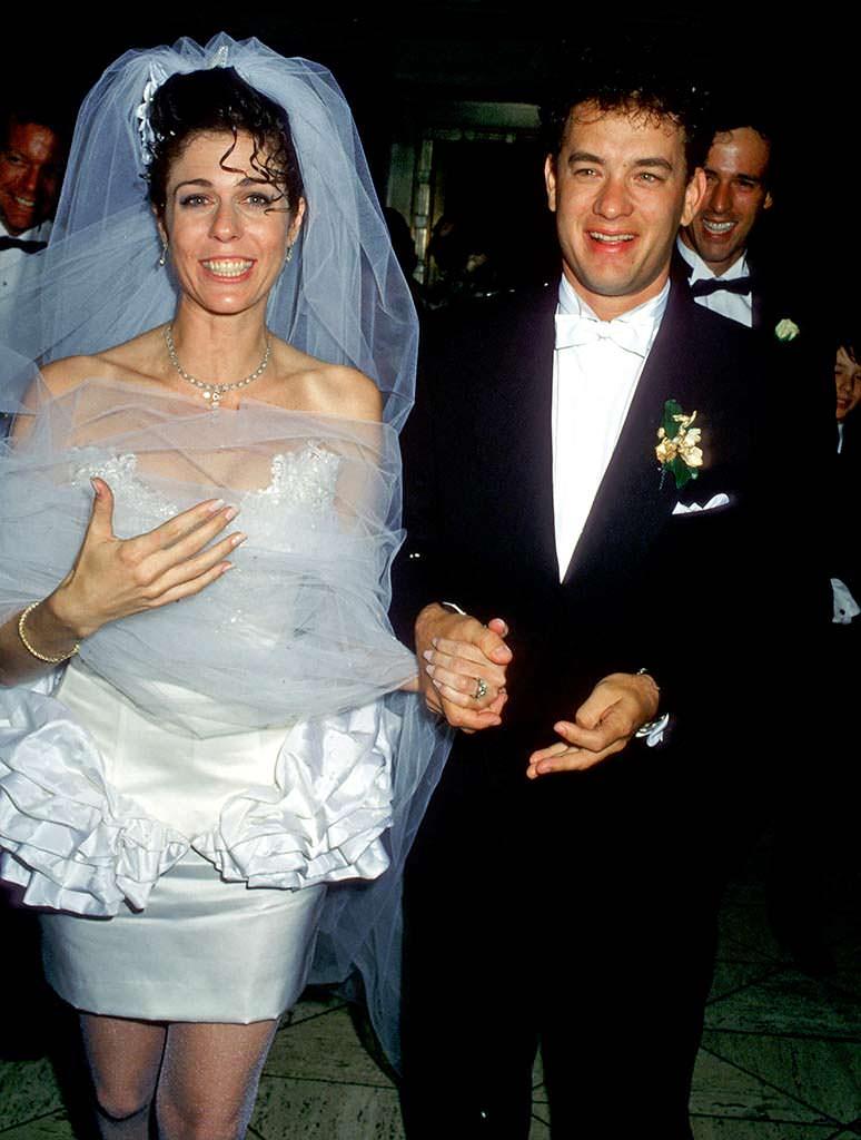Свадьба Тома Хэнкса и Риты Уилсон в 1988 году