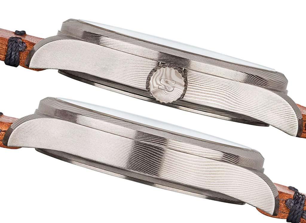 Sinn 1800 Damaszener немецкие часы из дамасской стали