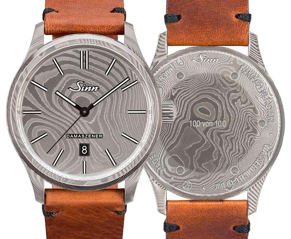 Sinn 1800 Damaszener: часы из дамасской стали