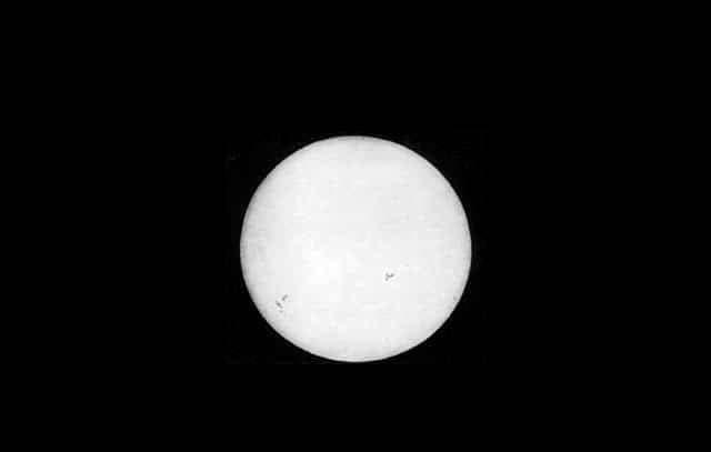 Старейшее фото Солнца
