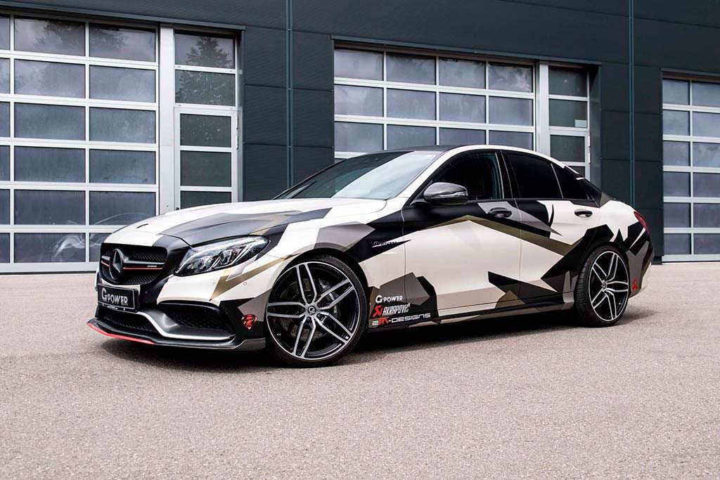 Mercedes-AMG C63 S W205. Максимальная скорость 330 км/ч