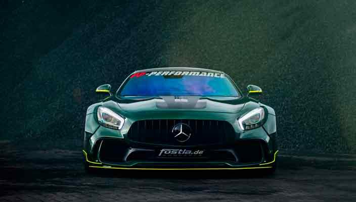 Суперкар Mercedes-AMG GT S в новом тюнинге Fostla | фото