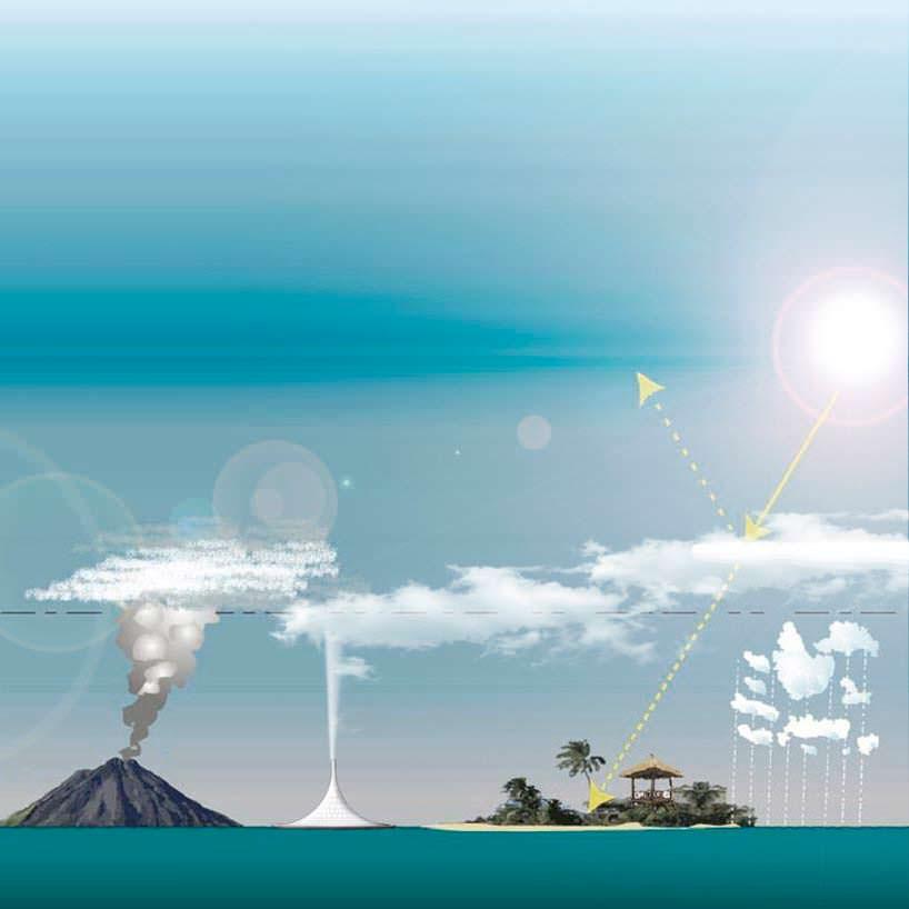 Вулканическая башня PARQ: получение пара методом электролиза