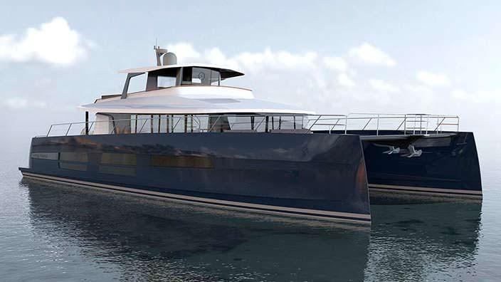 Яхта-катамаран Long Island 78 Power от JFA. Длина 24 метра