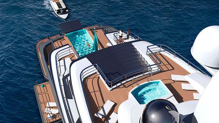 Яхта с бассейнами соленой и пресной воды Quantum