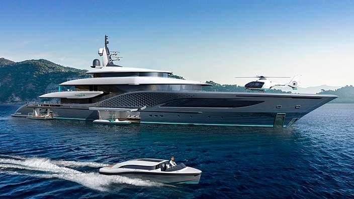 Яхта Quantum от Turquoise Yachts. Длина 77 метров