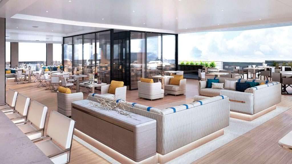 На борту суперъяхты длиной 190 метров от Ritz-Carlton